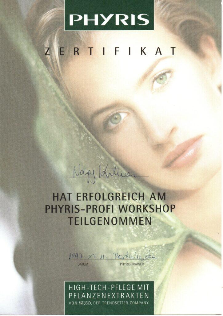 1_Phyris_Zertifikat